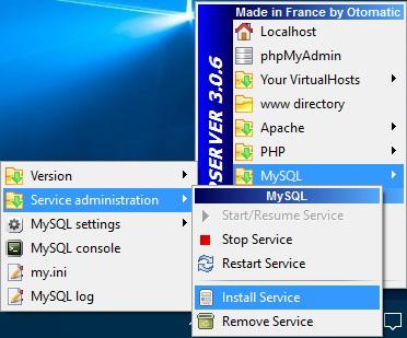 מדריך התקנת WAMP - התקנת MYSQL