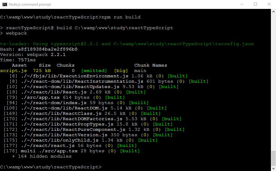 webpack npm run build